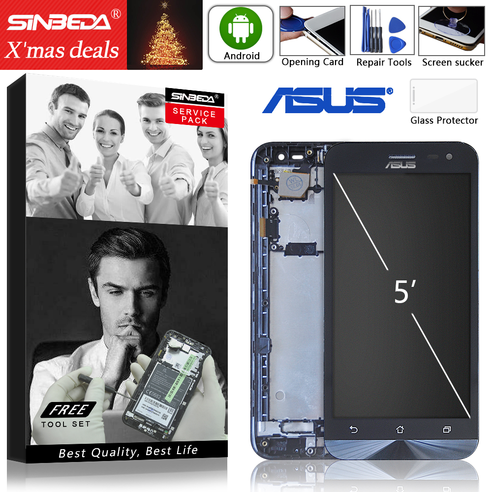 Original LCD Screen Display Für ASUS Zenfone 2 Laser ZE500KL Touchscreen mit Rahmen Digitizer Montage Für ZE500KL LCD