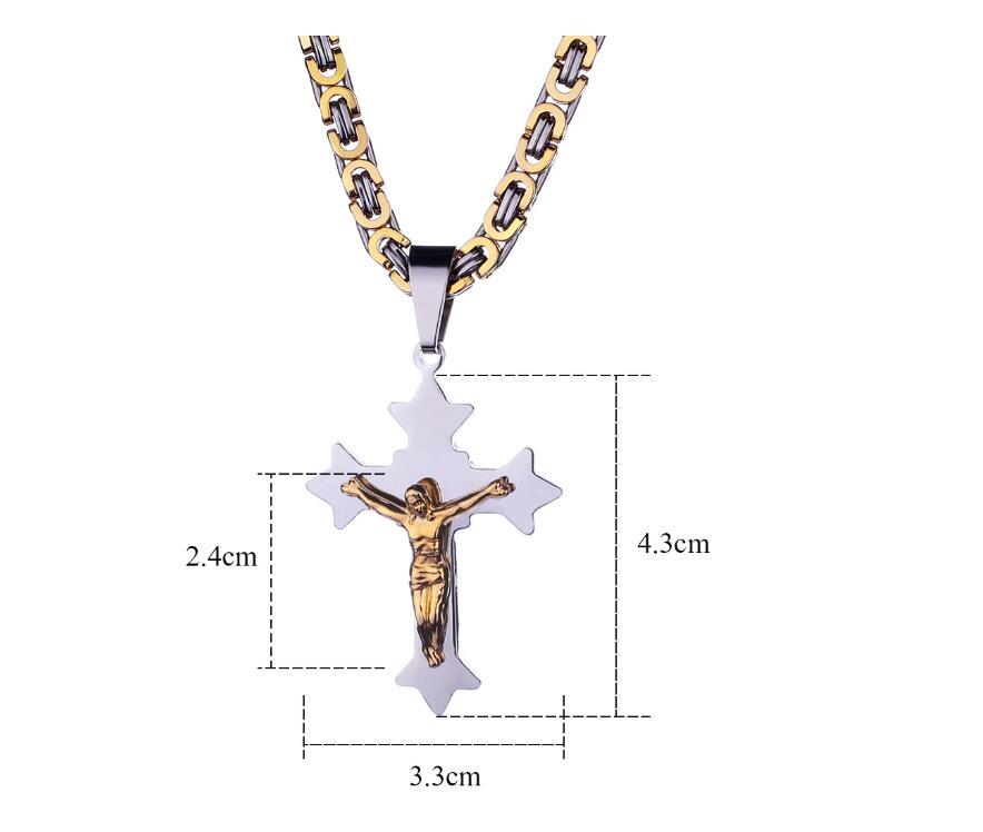 Novo Design Elegante Ouro Jesus Pingente de