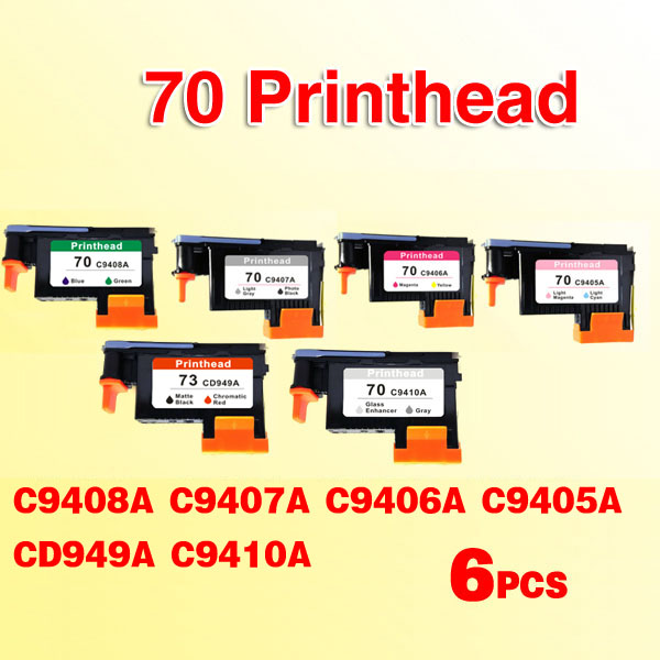 6PCS compatible for hp73 printhead replacement for hp 70 73 Designjet Z2100 Z5200 Z3100 Z3200 printer