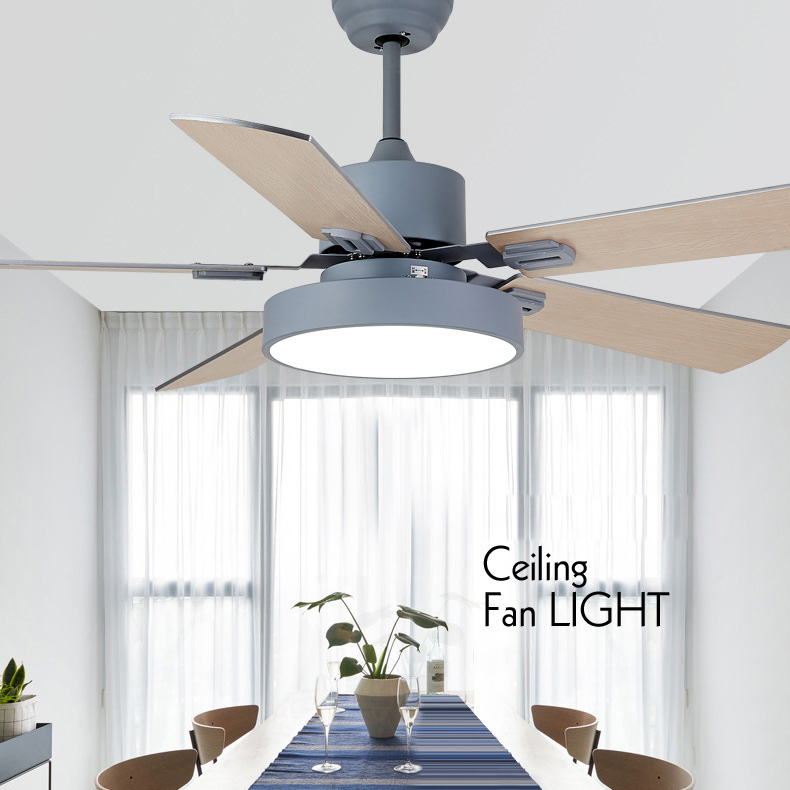 Modern Industrial Ceiling Fan Light with LED Light Kit and Remote Control Quiet Energy Saving/Decoration Fan 42/52 inchModern Industrial Ceiling Fan Light with LED Light Kit and Remote Control Quiet Energy Saving/Decoration Fan 42/52 inch