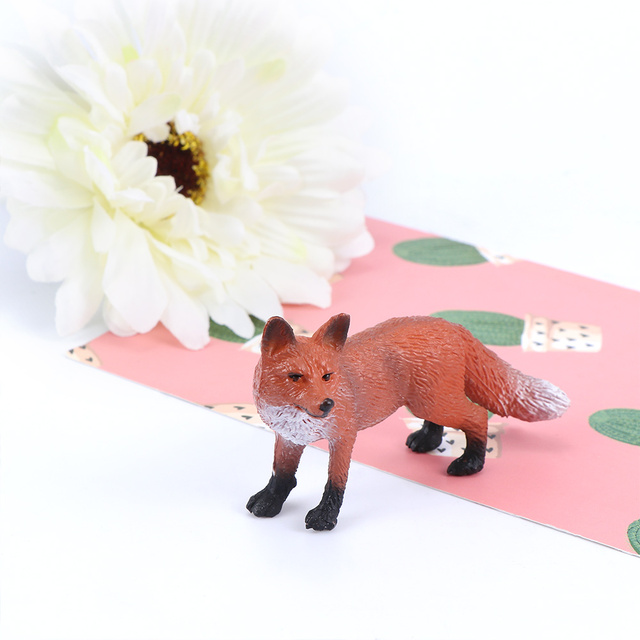 Mini Simulation Red Fox Models Home Garden Statues Ornaments Figurine Decoration For Forest Style Home Decor Accessories 4