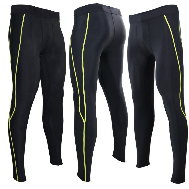 Mens Sports Apparel Skin Tights Thermal Compression Base Under Layer Long Pants