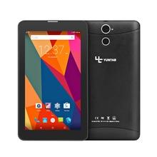 Лидер продаж, 3 г Phablet yuntab e706 7 «1 ГБ + 8 ГБ IPS android5.1 4 ядра двойной cam Планшеты для звонков GPS bluetooth 7 8 10 10.1