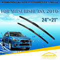 """Lâminas de limpador para mitsubishi asx (2010-) 2011 2012 2013 2014 Car Windscreen Windshield Wiper Wiper Blade 21 """"+ 24"""" carros estilo"""