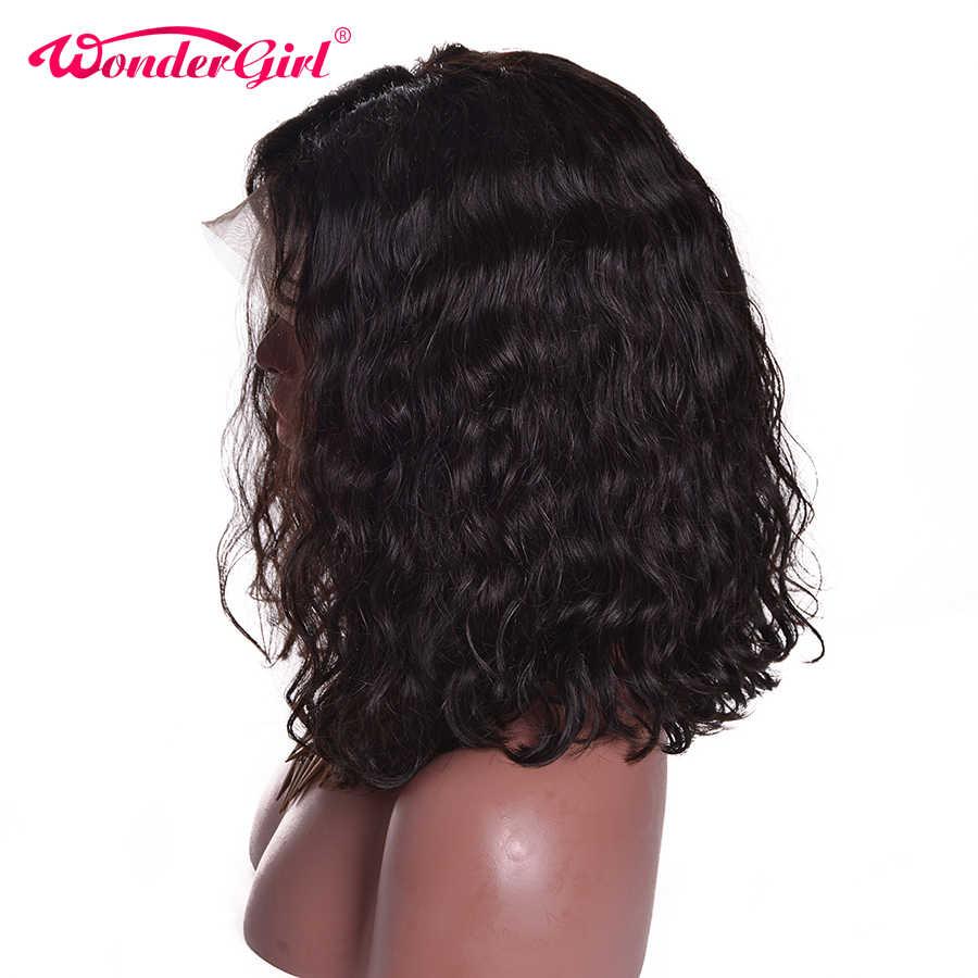 150% плотность малазийские короткие кудрявые парики боб с волосами младенца 13x6 Remy боб парик кружева фронта человеческих волос парики Wonder girl не Shedding