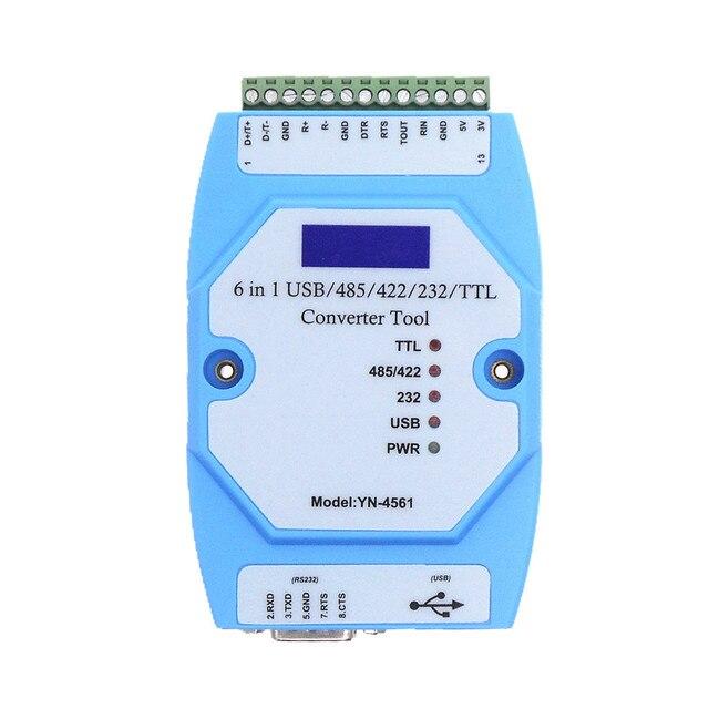YN4561 ستة في واحد المسلسل وحدة CP2102 USB/485/422/232/TTL تحويل المتبادل المسلسل كوم YN 4561