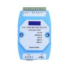 YN4561 שש in one סידורי מודול CP2102 USB/485/422/232/TTL המרה הדדית סידורי COM YN 4561