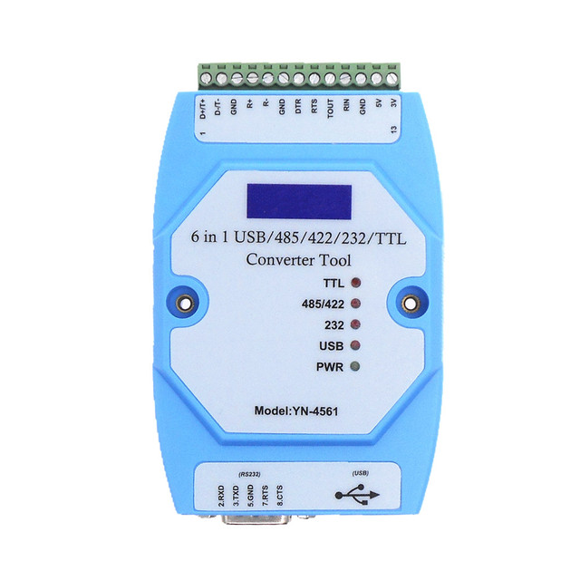 YN4561 sei in un modulo seriale CP2102 USB/485/422/232/TTL conversione reciproca COM seriale YN 4561