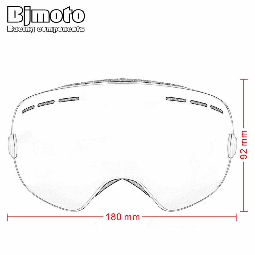 Bjmoto Motorcross Kacamata Kacamata Salju Snowboard dengan Anti-Kabut UV400 untuk Pria Wanita Mobil Salju Skating Masker Balap Kacamata