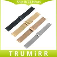 Milanese Watchband 16mm 18mm 20mm 22mm 24mm Universal Stainless Steel Metal Watch Band Strap Bracelet Black