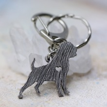 M12023 Rottweiler Chave Breed Pet Jewelry Animal Shape Randomly Brass Tiny Chain Keychain For Gift 2016 1Pc/Lot