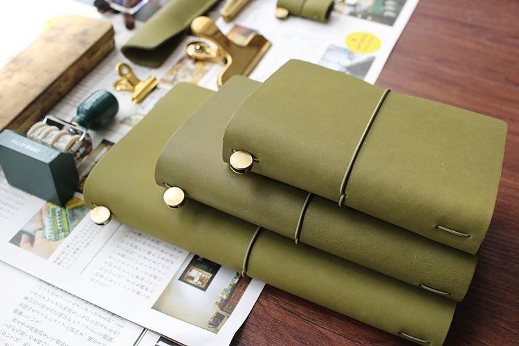 Fromthenon Travelers Notebook cuero verde oliva planificador 2019 - Blocs de notas y cuadernos - foto 6