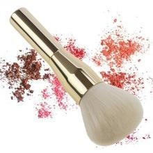 купить 2019NEW High-quality gold aluminum tube large-size blush brush ultra-fine nylon Kabuki makeup brush aluminum tube makeup tool дешево