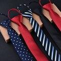 Moda 5 cm Corbata Para Los Hombres y Las Mujeres Delgado Estrecho Lazo Flojo Fácil Tirar de la Cuerda Estilo Coreano Corbatas Banquete de Boda Aniversario Azul