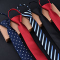 Moda 5 cm Gravata Para Homens e Mulheres Fino Estreito Laço Preguiçoso fácil Para Puxar Corda Gravata Aniversary Festa de Casamento Estilo Coreano Azul