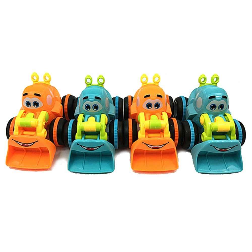 Kartun Bulldozer Model Mainan Diecast Mainan Menggali Mainan Model Bermain Truk Traktor Kendaraan Teknik Anak-anak Hadiah untuk Anak Laki-laki Perempuan