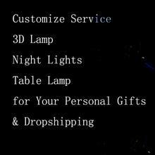 Индивидуальные 3d ночники креативные игрушечные светильники