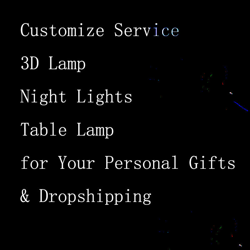 Customize  3D Night Lights Creative Toy LED USB Touch Button Table Lamp for Your Personal Gifts & Dropshipping
