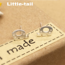 2017 New listing 925 silver pierced earrings small fresh literary qualities like high quality animal earrings gift girls
