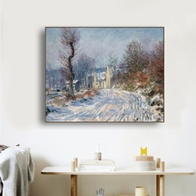 Winter Village by Van Gogh Famous Wall Art Poster Print Canvas Painting Calligraphy Decor Picture for Living Room Home