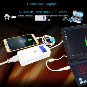 Image 5 - XiiC Laptop Adapter Fourth Generation LCD Universal Smart Power Supply with USB for Phone Charging Home and Car Notebook Adapter