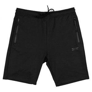 Image 3 - Pantalones cortos de algodón de alta calidad para hombre, Shorts informales de marca, a la moda, con bolsillos y cremallera, color rojo, para correr, para verano, 2019