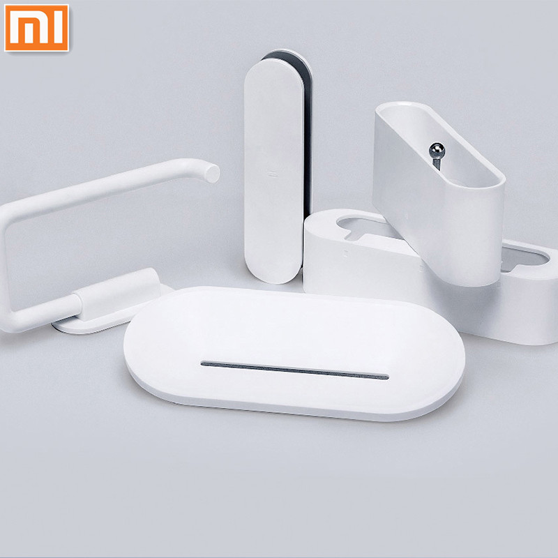 Xiaomi Mijia HL Bathroom 5 in1 Sets For Soap Tooth Hook Storage Box and Phone Holder For Bathroom Shower Room Tool Xiomi H31
