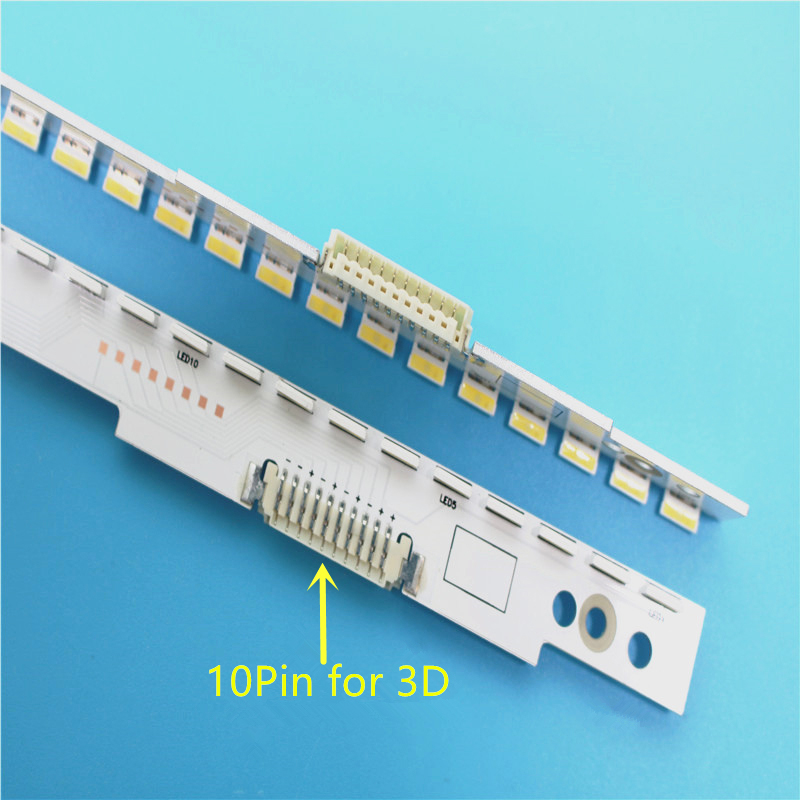 New 2 PCS/set 60LED 572mm LED Backlight Strip For Samsung UA46ES5500R SLED 2012SVS46 7032NNB LEFT60 RIGHT60 3D