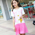 Fashion Women Summer Night Skirt Leisure Home Clothes Short Sleeve Longuette NIghtgown For Women Serve Spring Sleepwear Girl