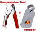 New Multi Compression coaxial cable crimping tool F RG6 RG58 RG59 connectors Coax Crimper coaxial cable stripper