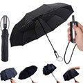 Ветронепроницаемый складной автоматический зонт от дождя для женщин авто Роскошные Большие ветрозащитные зонты от дождя для мужчин и дете...
