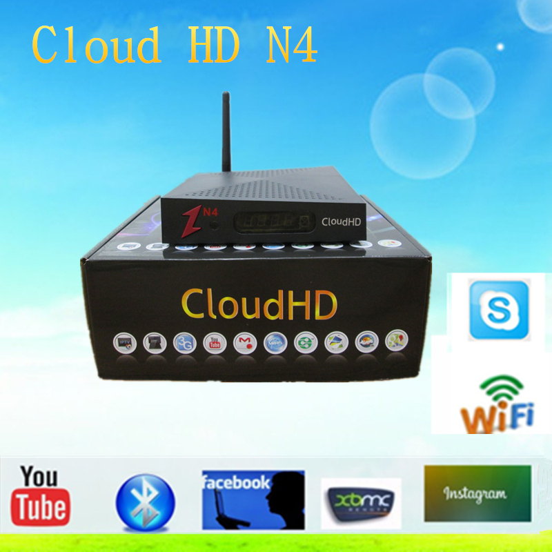2015 NEWEST Factory Hotsale Cloud HD N4 DVB-S HD TV Satellite Receiver  Support Newcam WITHOUT IKS free shipping