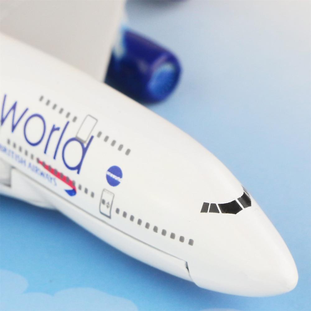 British Airways Boeing 747- 400 british 16cm alloy metal airplane models child Birthday gift plane models Free Shipping