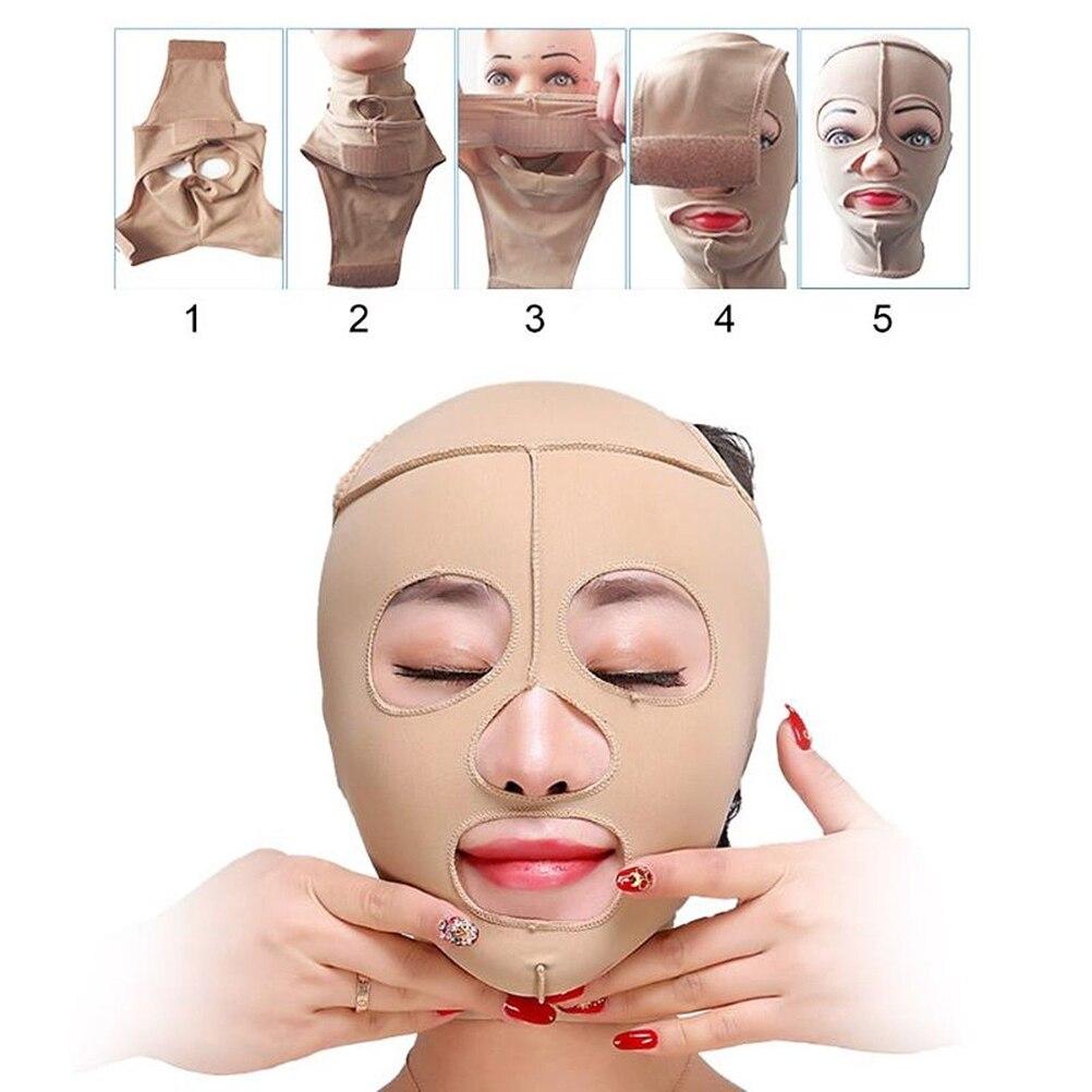 בריאות טיפול פנים הרזיה תחבושת יופי כלים אלסטי צבע עור פנים מסכת תחבושת מעלית-עד סנטר הרזיה V פנים מעצב