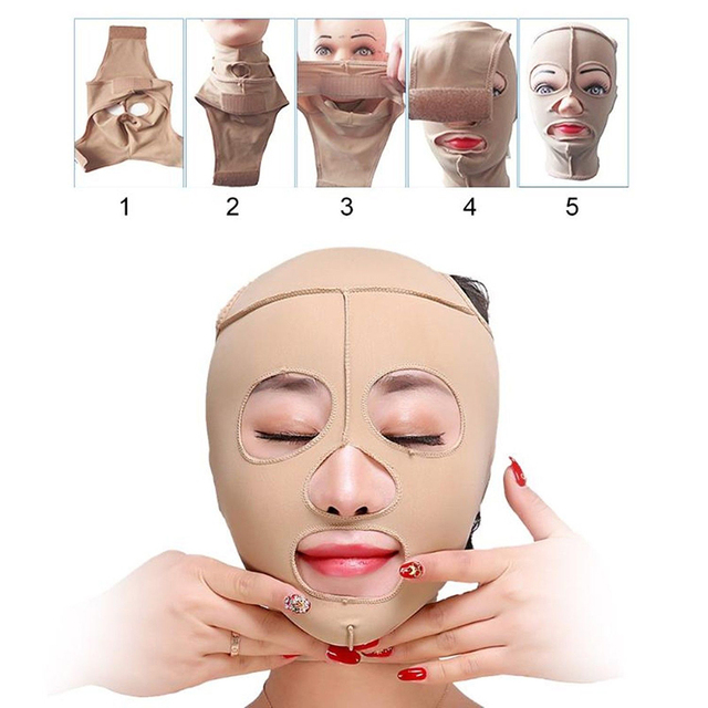 Health Care Facial Slimming Bandage Beauty Tools Elastic Skin Color Face Mask Bandage Lift-up Chin Slimming V Face Shaper