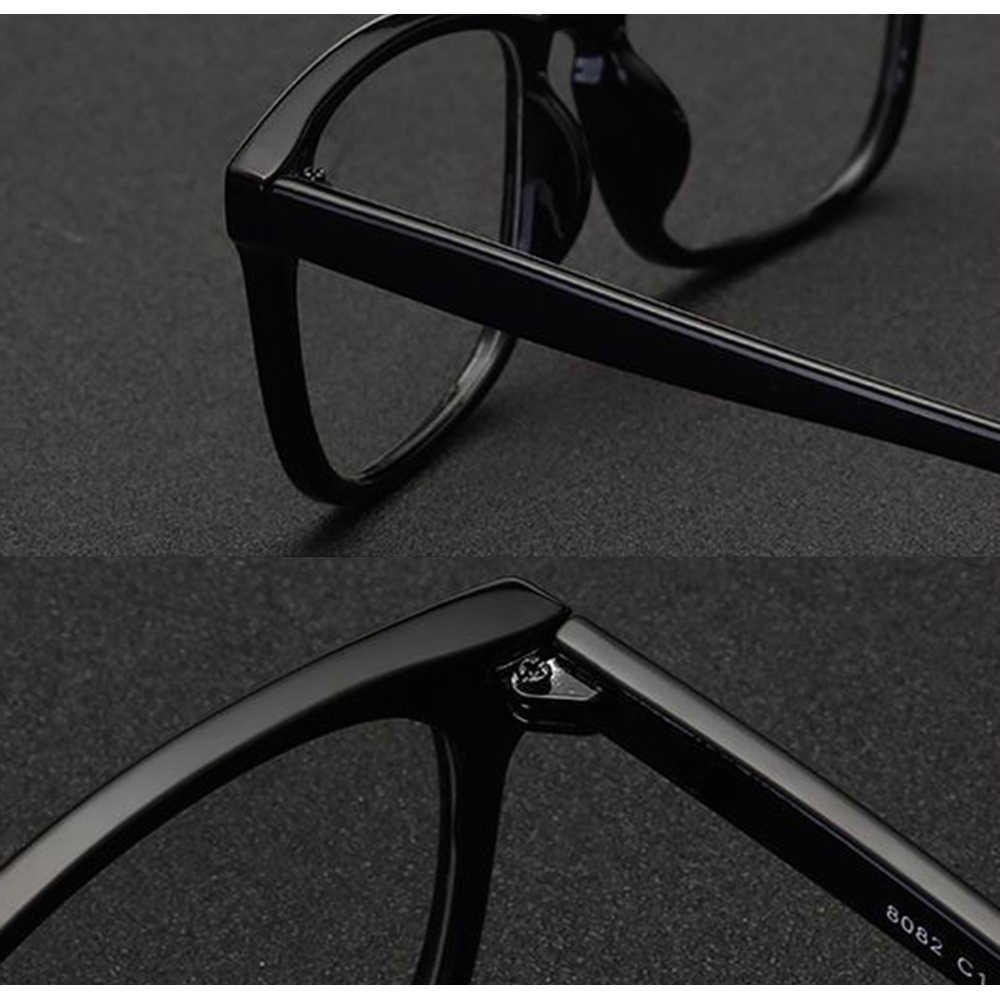 Fashion Personality Oversized Square Frame Classic TREND Spectacles with Optical Lenses or Photochromic Gray / Brown Lenses