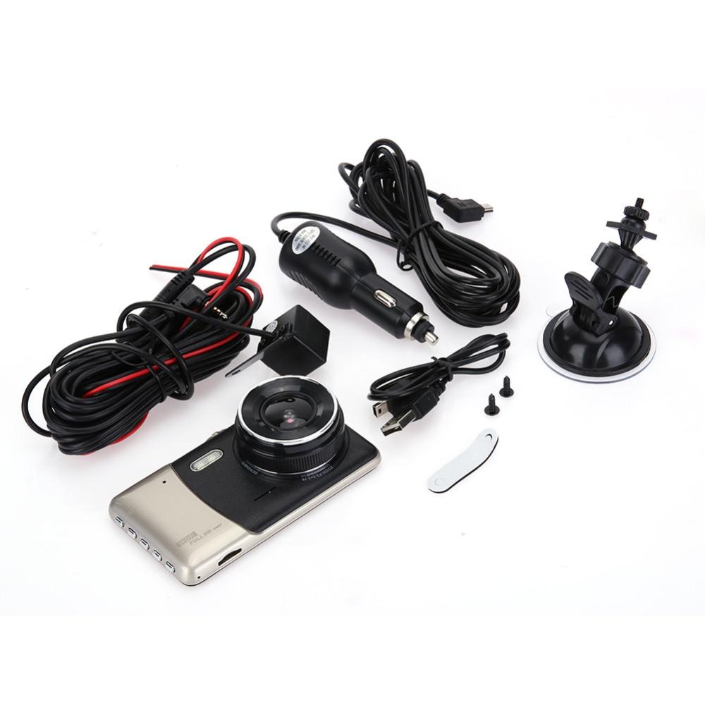 US $37 53 15% OFF GUBANG H9000 Car DVR Video Recorder Full HD 170 Degrees  Wide Angle 4 inch LCD Dual lens G sensor Camera Free Shipping-in DVR/Dash