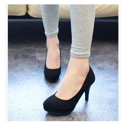11cm Pumps 2015 Womens shoes autumn thick heel shoes ol high-heeled shoes female the trend of ultra high heels female shoes l