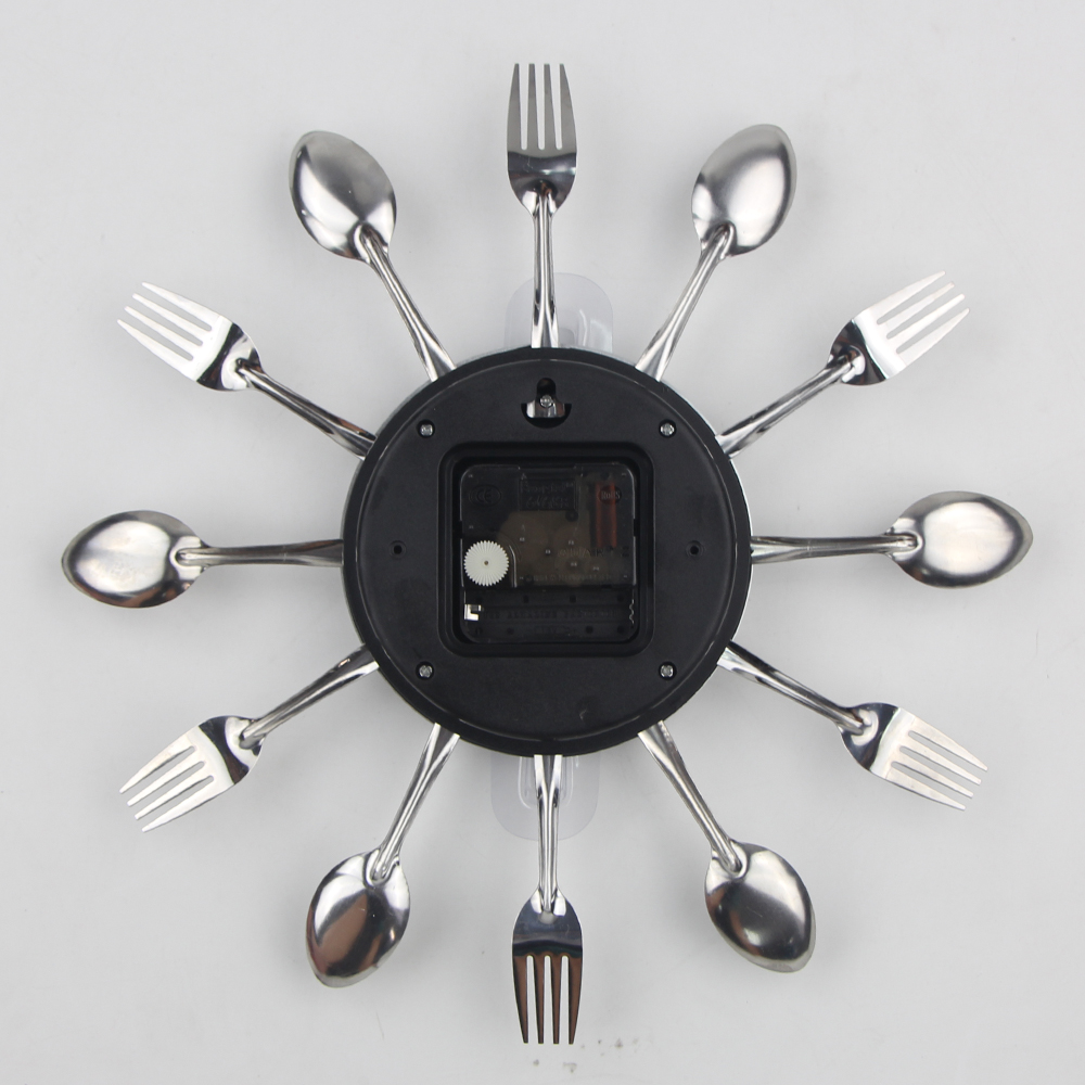 battery operated wall clock cutlery