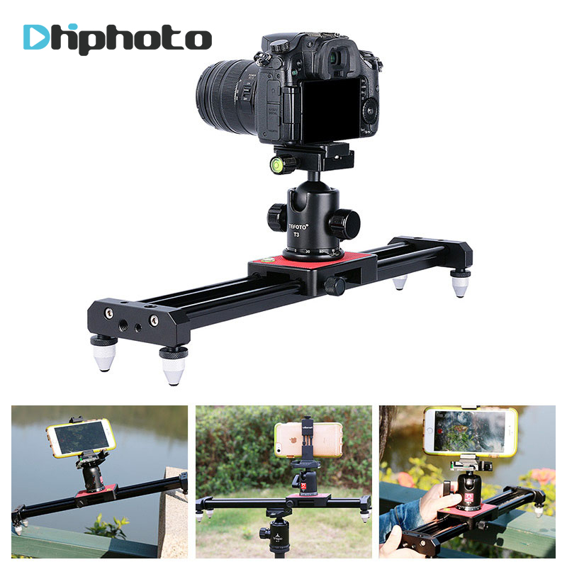 Ulanzi 40 cm/15in Mini aluminio cámara Video Track dolly Slider Rail sistema para Nikon Canon DSLR cámara DV película Vlogging Gear
