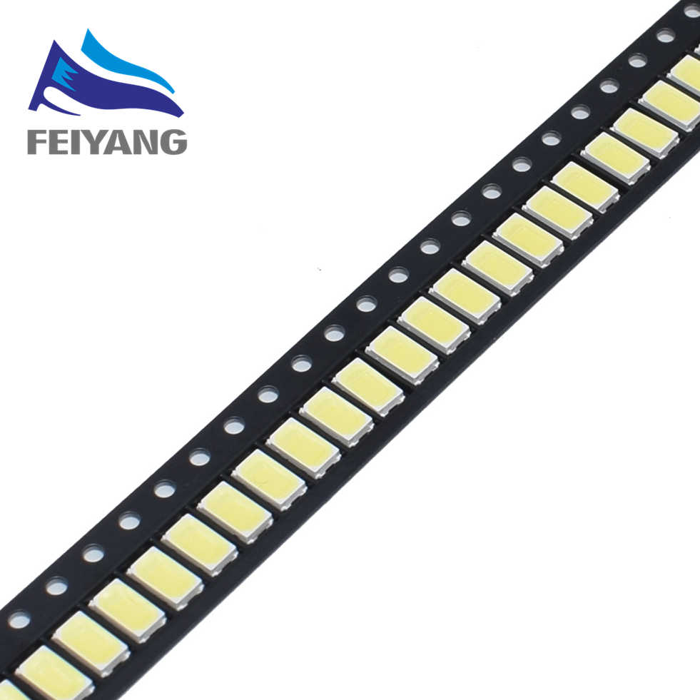 100 pièces 5630/5730-CW/WW 0.5W-150Ma 50-55lm 6500K lumière blanche SMD 5730 5630 LED 5730 diodes (3.2 ~ 3.4 V)