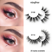 68b95ed18dd Visofree Eyelashes 3D Mink Lashes Handmade Full Strip Lashes Cruelty Free  Luxury Mink Eyelashes Makeup Lash maquiagem faux cils