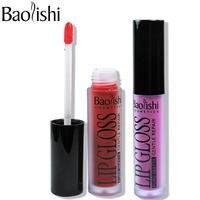 Baolishi Brand Makeup Waterproof Batom Tint Lip Gloss Red Velvet True Brown Nude Matte Makeup Lipstick