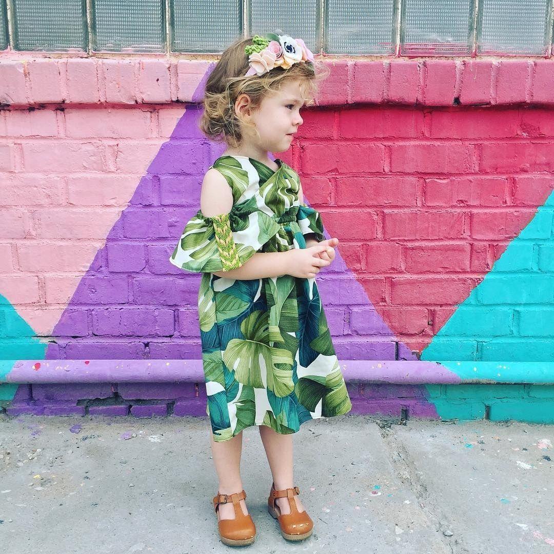 Sommer Kleidung Kleinkind Baby Mädchen Kurzarm Kleid Blatt Party ...