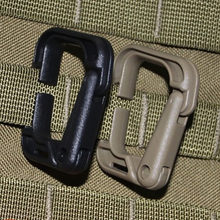 2 Pcs/set Plasctic Shackle Carabiner D-Ring Clip Molle Anyaman Ransel Gesper untuk Snap Camp Mendaki Gunung Mendaki Outdoor(China)