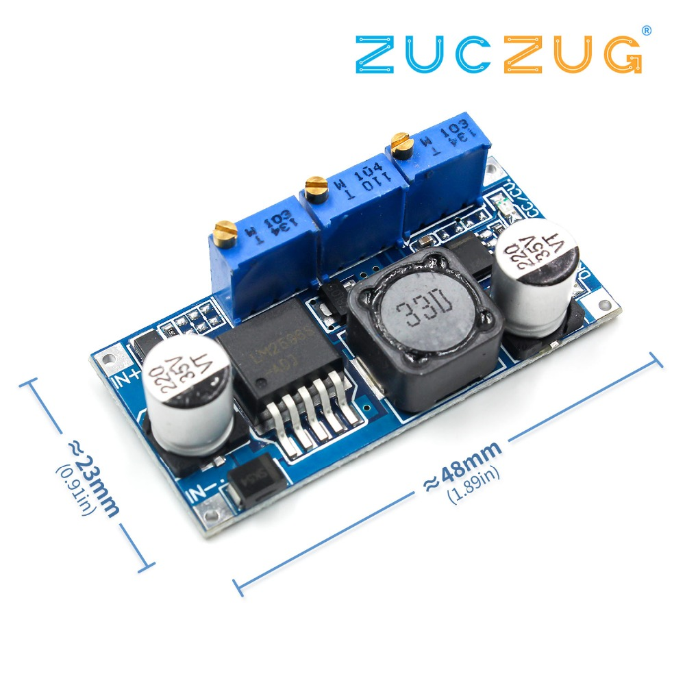 1pcs LM2596S DC-DC Constant Current Module LM2596 DC-DC 7V-35V Step-down Adjustable CC/CV Power Supply