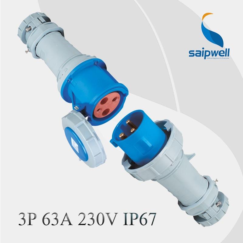 Здесь продается  IP67 High Waterproof Performance 3P 63amp Industrial Socket Set  Электротехническое оборудование и материалы