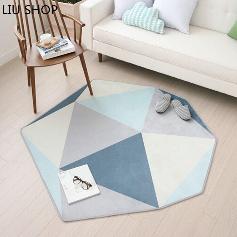 LIU 110*120 cm tapis nordiques salon tapis irrégulière moderne chevet chambre tapis table basse canapé tapete maison ramper tapis
