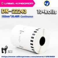 10 리필 롤 호환 DK 22243 라벨 102mm * 30.48 m 연속 형 호환 형 QL 1060 라벨 프린터 흰색 dk2243 label printer brother labelbrother printer label -
