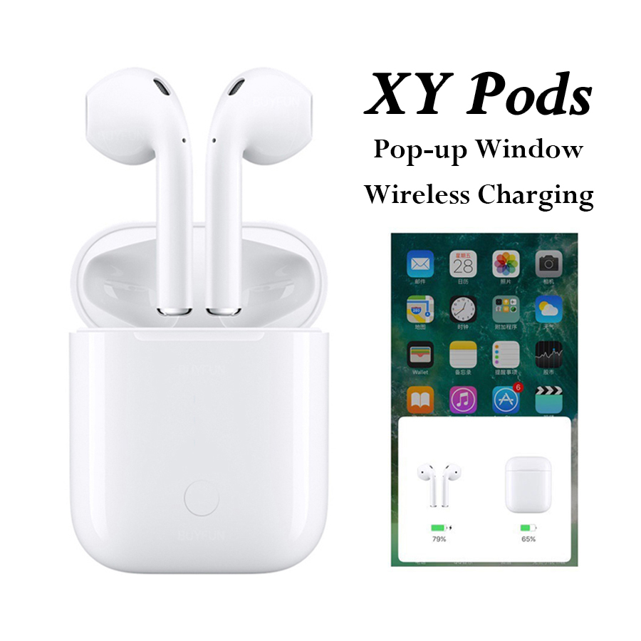 Earphones & Headphones Back To Search Resultsconsumer Electronics Practical Xy Pods Pk W1 Chip Not Air Mx Tws Bluetooth Earphones Wireless Earphone Pop Up Xypods Xy-pods W1 Earbuds Pk Lk Te9 Tws I12 I10 Selected Material